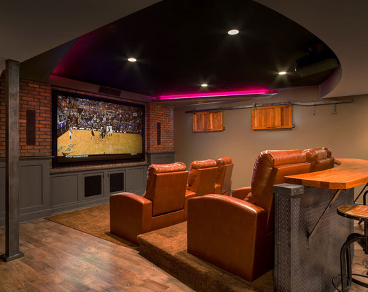 45 amazing luxury finished basement ideas | home remodeling