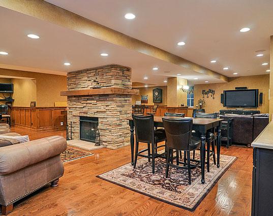 45 Amazing Luxury Finished Basement Ideas | Home Remodeling ...