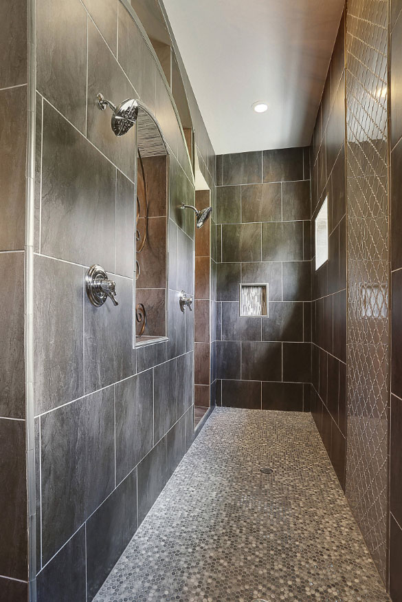 27 walk in shower tile ideas that will inspire you home for Huge walk in shower