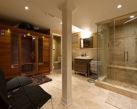 45 amazing luxury finished basement ideas home for Finished bathroom ideas