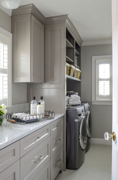 Grey Kitchen Floor White Cabinets the psychology of why gray kitchen cabinets are so popular | home