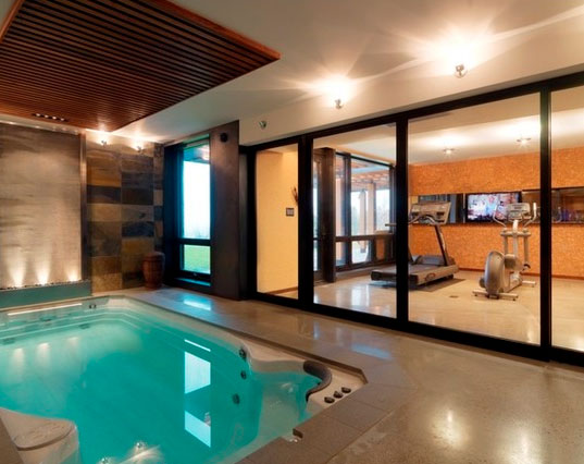 45 amazing luxury finished basement ideas home Basement swimming pool construction
