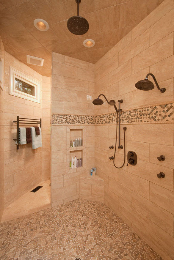 bathroom floor ideas 27 walk in shower tile ideas that will inspire you home 10393