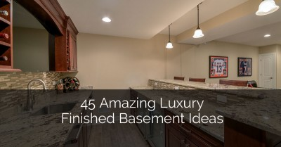 45 Amazing Luxury Finished Basement Ideas - Sebring Services