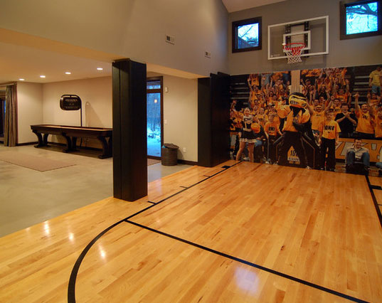 45 amazing luxury finished basement ideas home for How to build basketball court