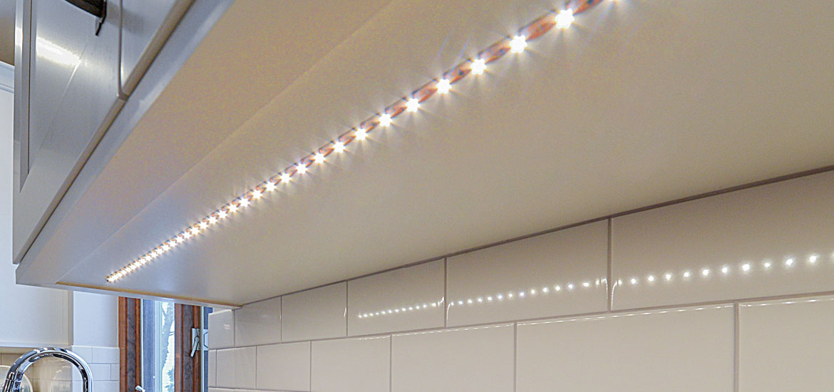 Kitchen Cabinet Lighting Battery
