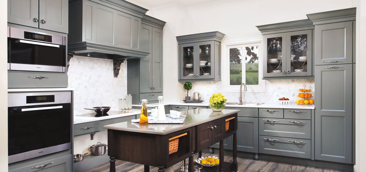 The Psychology Of Why Gray Kitchen Cabinets Are So Popular Home - Colour schemes for grey kitchen units