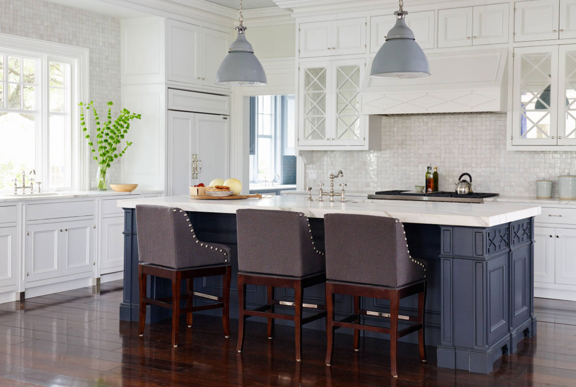 Design trend blue kitchen cabinets 30 ideas to get you for Kitchen island with cupboards
