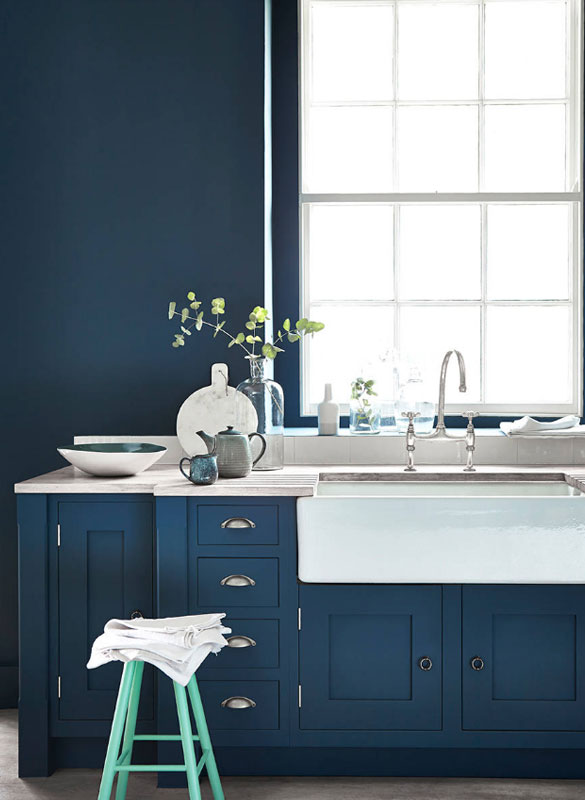 Design Trend Blue Kitchen Cabinets 48 Ideas To Get You Started Custom Blue Grey Kitchen Cabinets