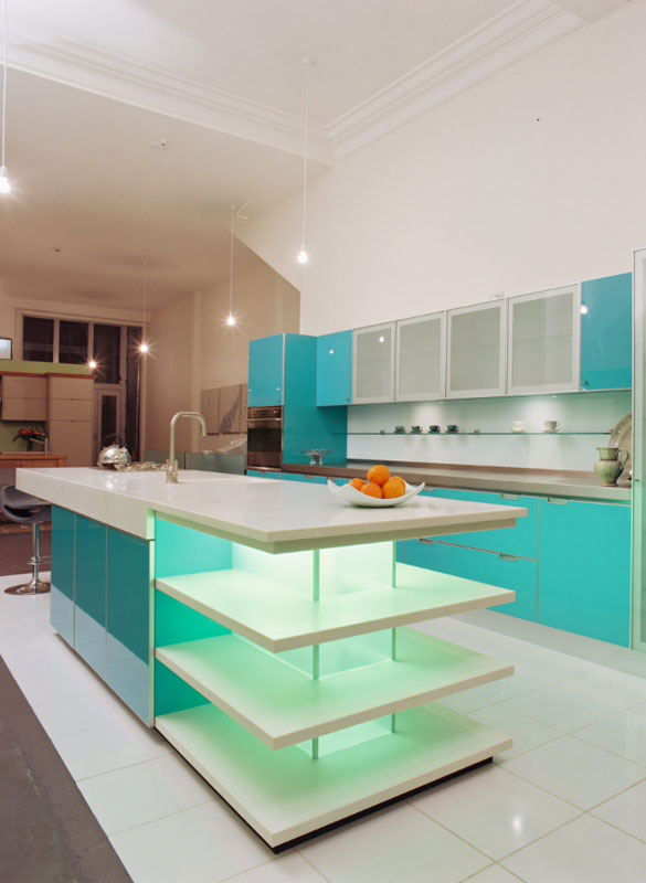 Kitchen cabinets different color island - Design Trend Blue Kitchen Cabinets Amp 30 Ideas To Get You