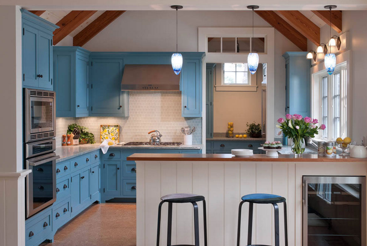 Design Trend Blue Kitchen Cabinets 30 Ideas To Get You Started Home Remodeling Contractors
