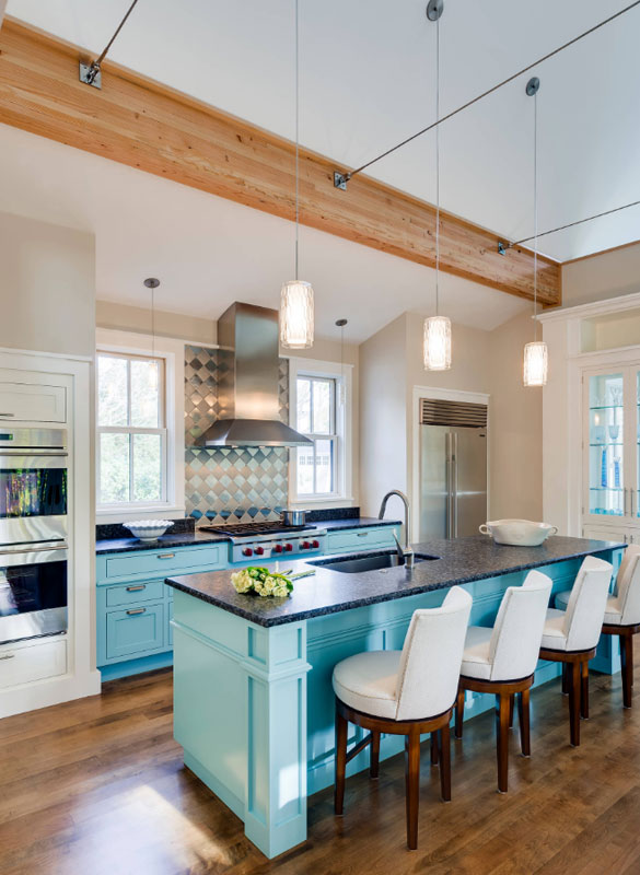 Blue Kitchen Cabinets - Sebring Services
