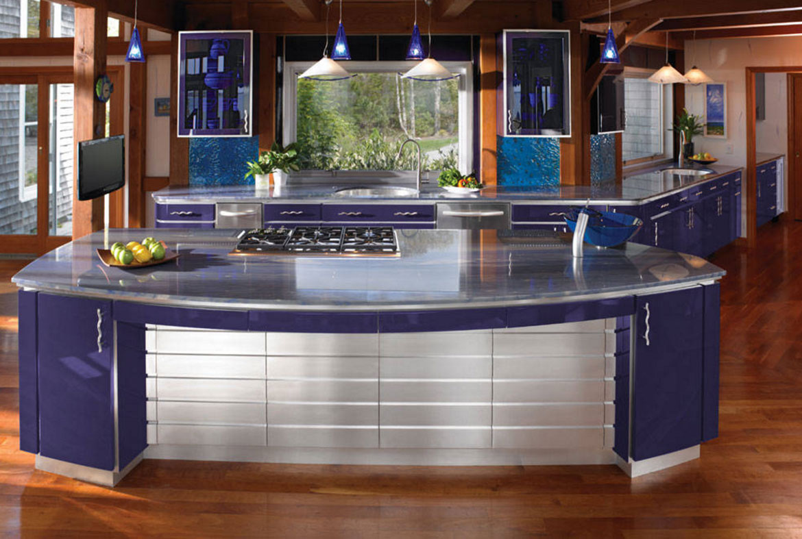 COBALT CONTEMPORARY Blue Kitchen Cabinets