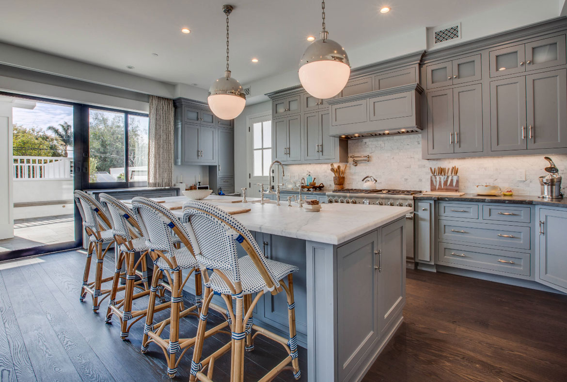 Blue Grey Kitchen Cabinets design trend: blue kitchen cabinets & 30 ideas to get you started