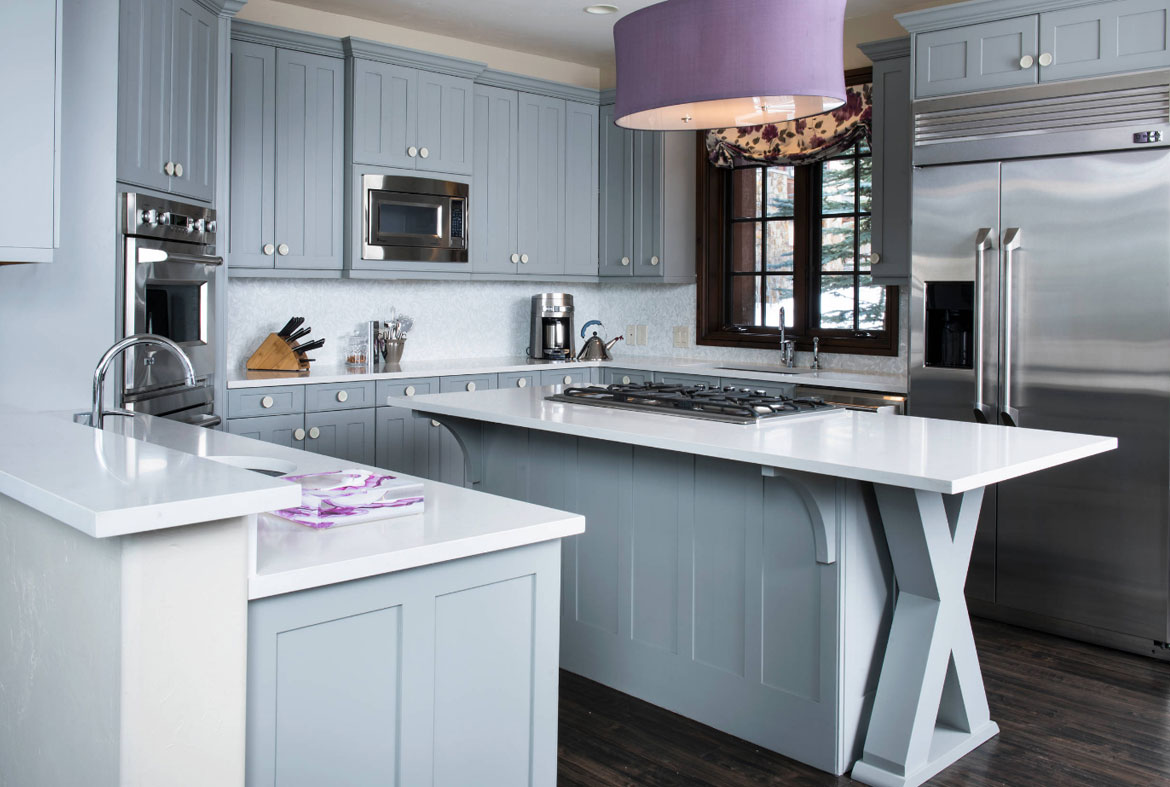 Ocean blue kitchen cabinets for 30 deep kitchen cabinets
