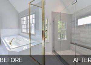 Before and After Master Bathroom Remodel Naperville - Sebring Design Build