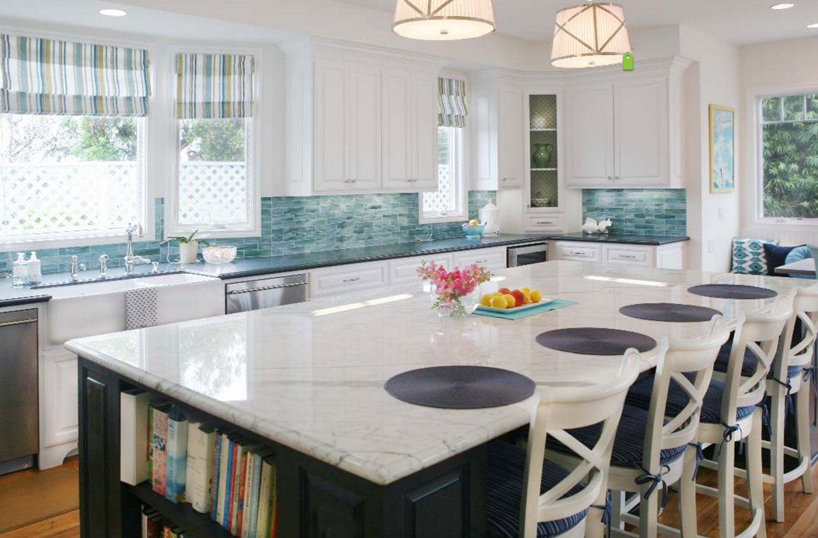 Ceramic Glass Tile Kitchen Backsplash