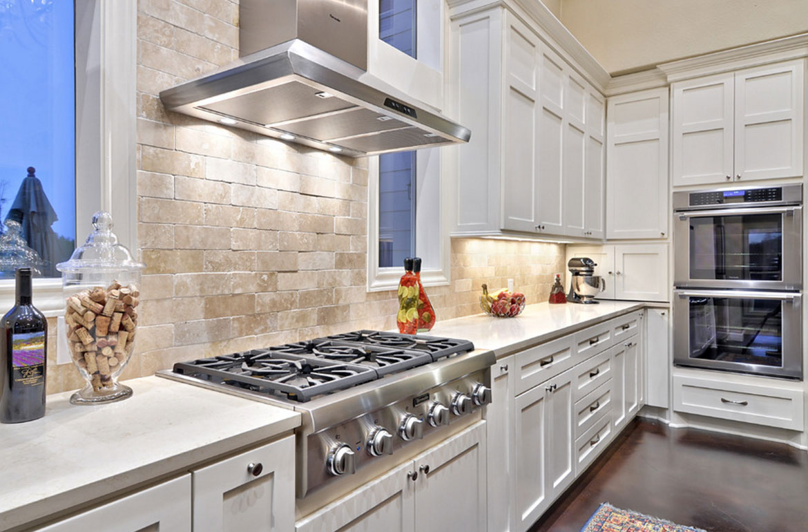 Stacked Subway Tile Kitchen Backsplash