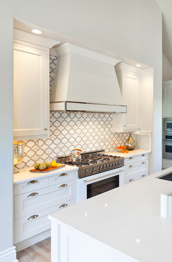 Glass Tile Subway Backsplash Kitchen