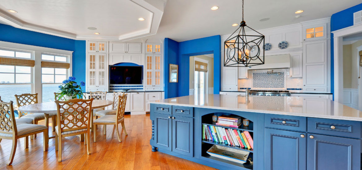 fascinating blue kitchen cabinets | 31 Awesome Blue Kitchen Cabinet Ideas | Home Remodeling ...