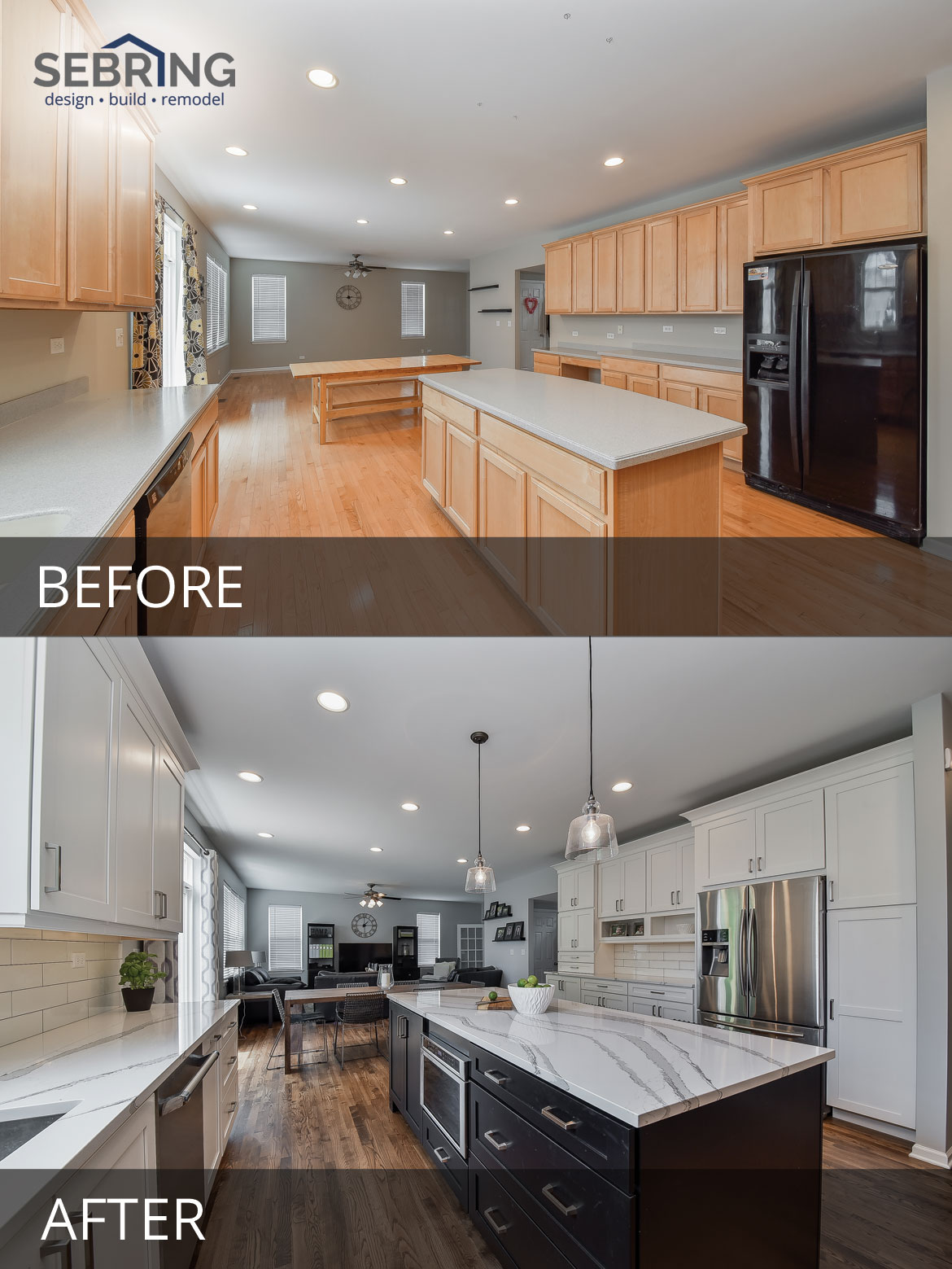 Image of: Pete Mary S Kitchen Before After Pictures Home Remodeling Contractors Sebring Design Build
