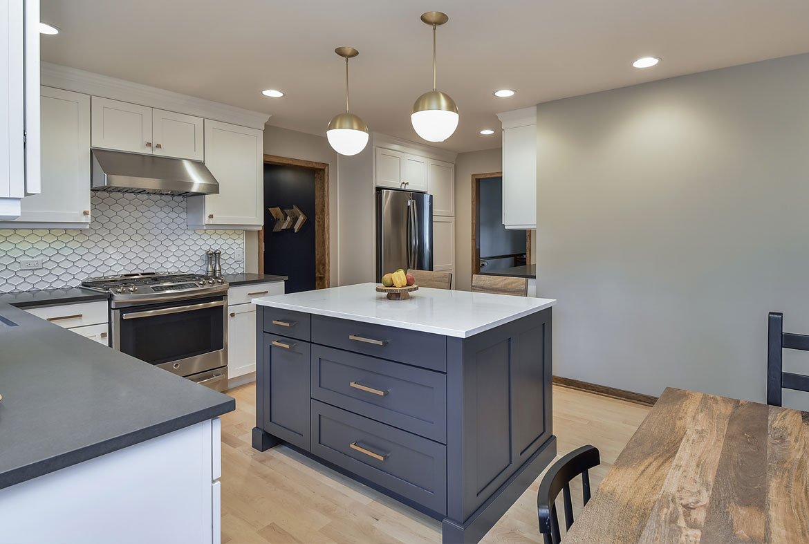 Kitchen Cabinets Rustic Blue