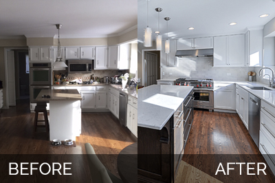 Derek Christines Kitchen Before After Pictures Home