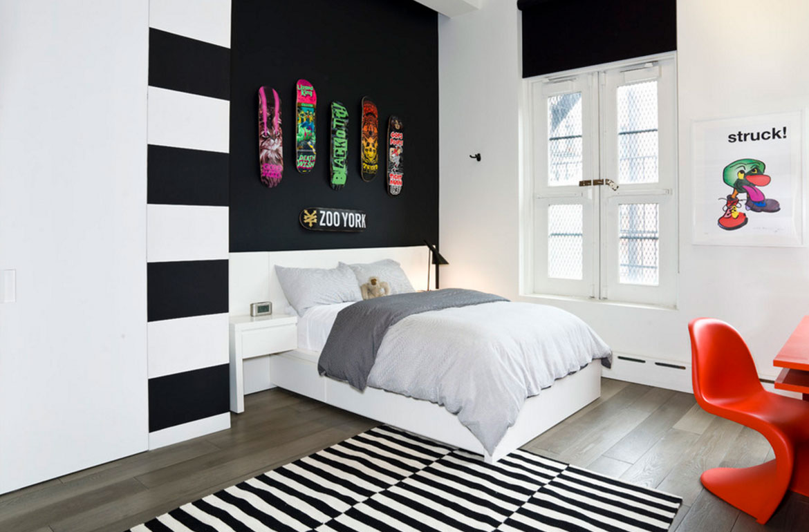 47 really fun sports themed bedroom ideas home for New york bedroom designs