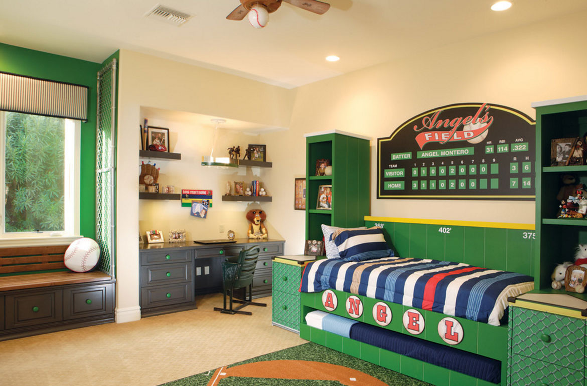 47 really fun sports themed bedroom ideas home for Themed bedrooms for boys