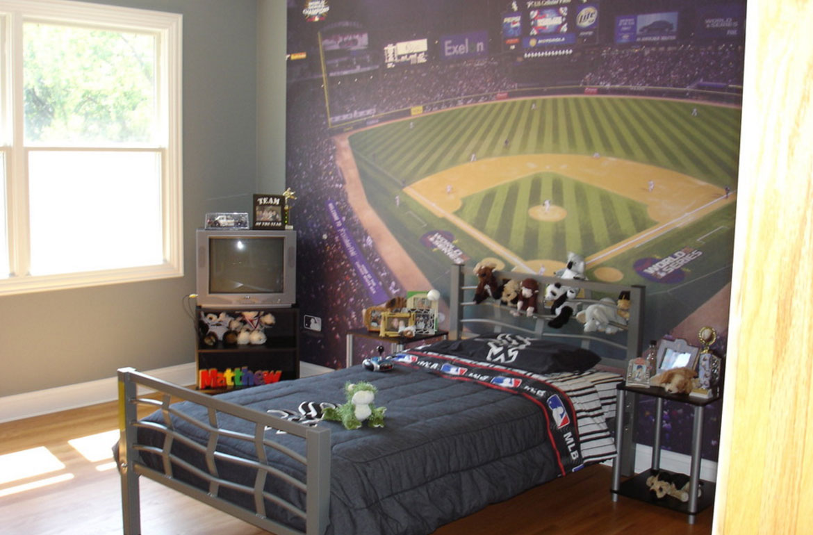 Baseball Wall Mural 47 Really Fun Sports Themed Bedroom Ideas Home