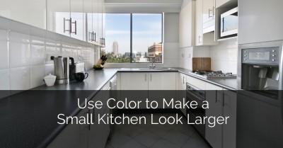 Use Color To Make A Small Kitchen Look Larger - Sebring Services