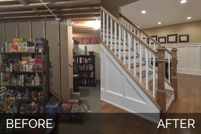Naperville Basement Before and After Remodeling - Sebring Services
