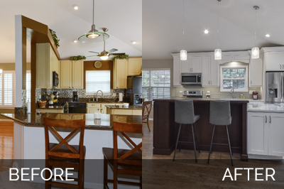 Naperville Kitchen Before and After Remodeling - Sebring Services