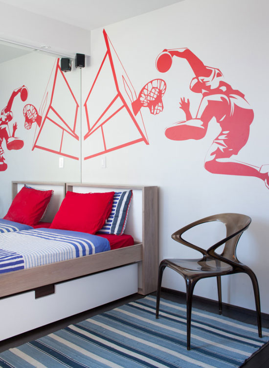 47 really fun sports themed bedroom ideas | home remodeling