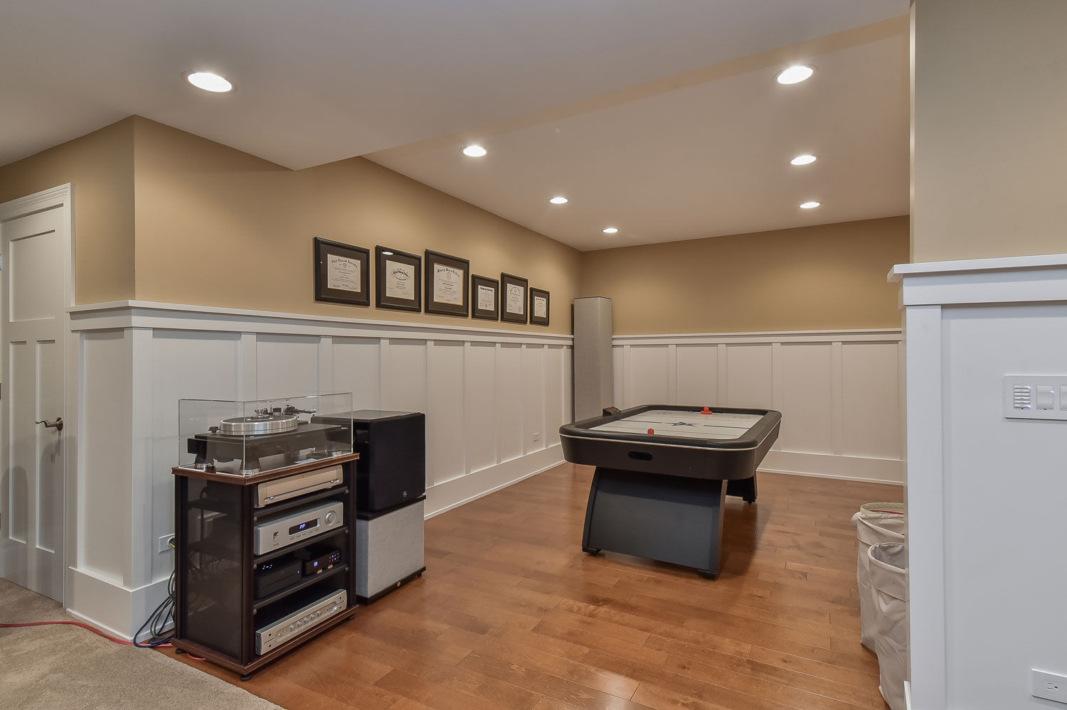 Naperville Basement Finishing Before and After - Sebring Services