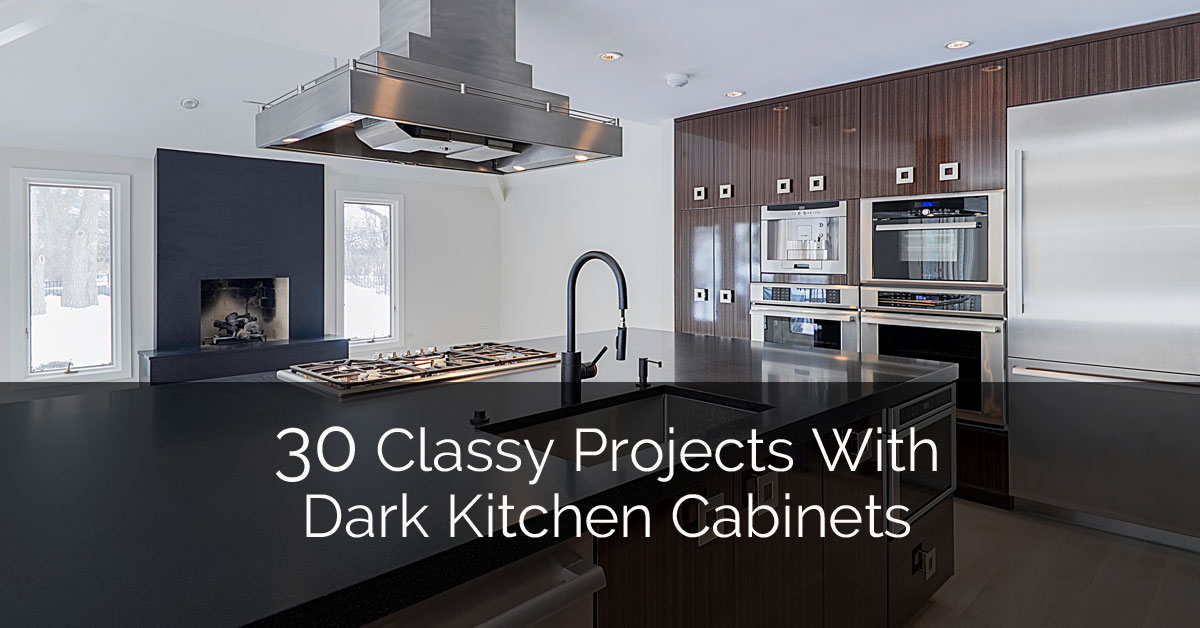 30 Classy Projects With Dark Kitchen Cabinets | Home Remodeling