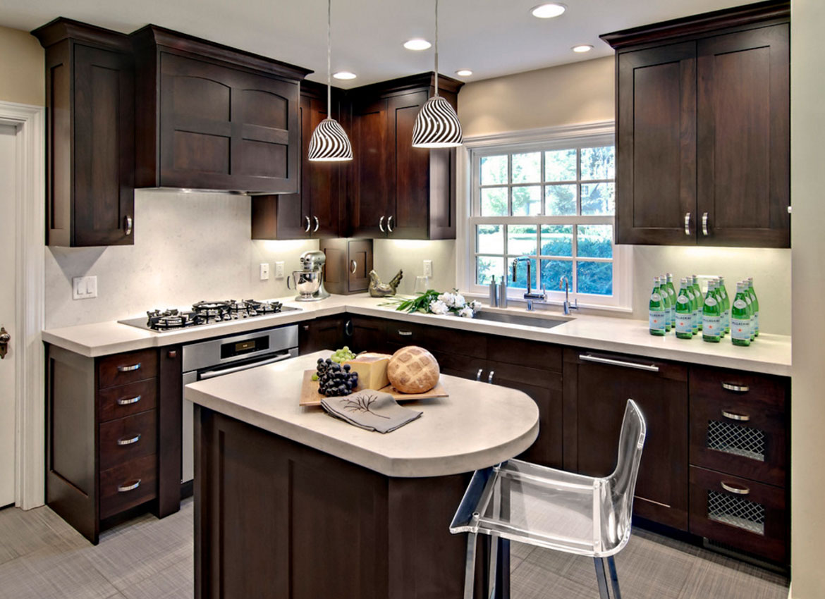 Delightful Small Dark Kitchen Design Ideas Part - 7: Dark Kitchen Cabinets - Sebring Services