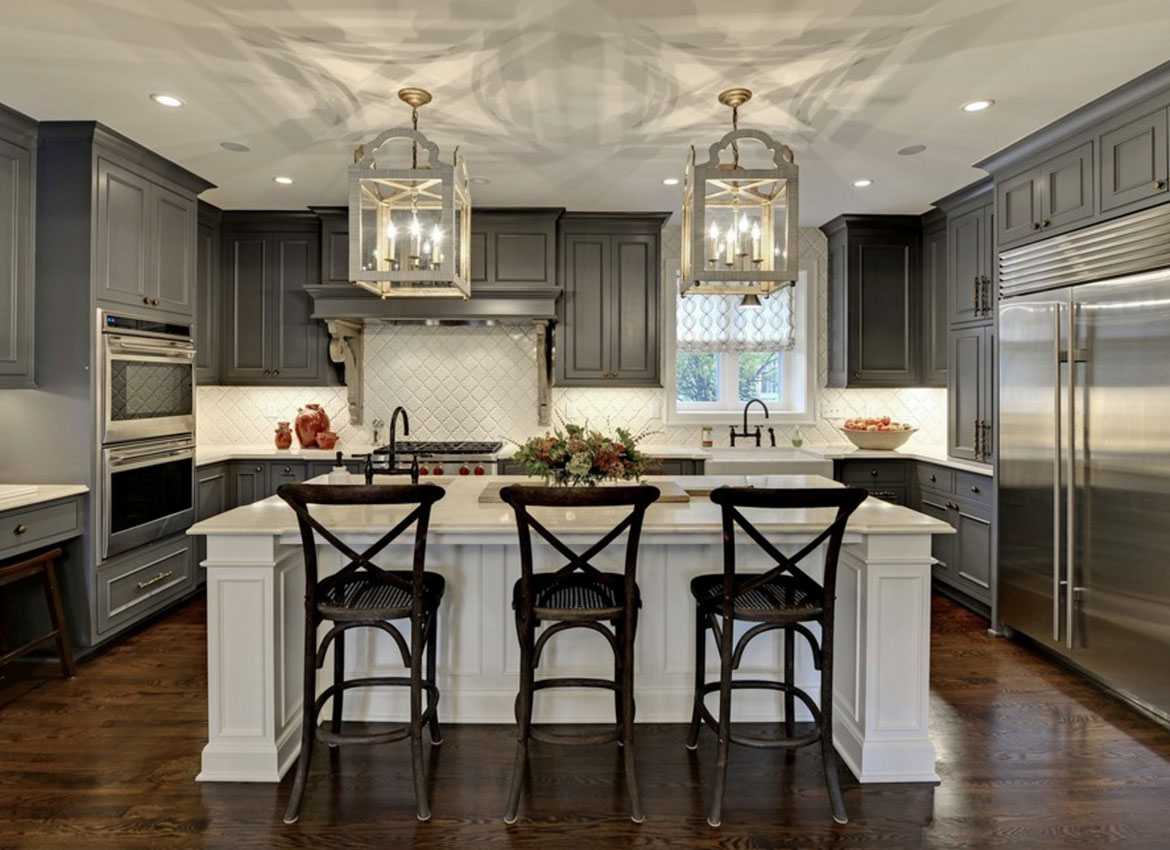 Delightful Dark Kitchen Cabinets   Sebring Services