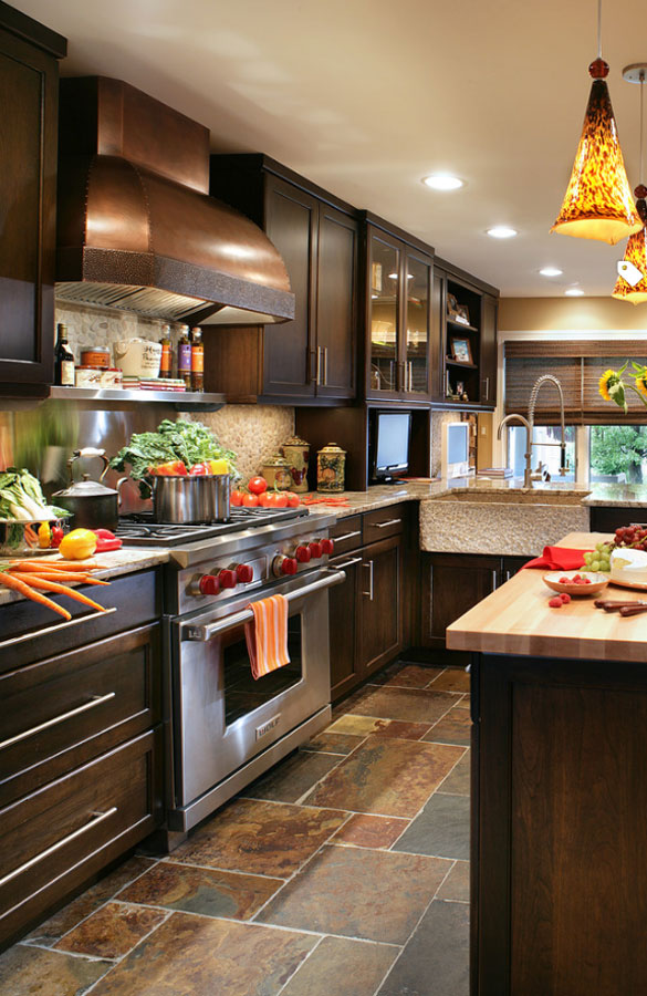 What Color Flooring Go With Dark Kitchen Cabinets 30 Classy Projects With Dark Kitchen Cabinets | Home Remodeling