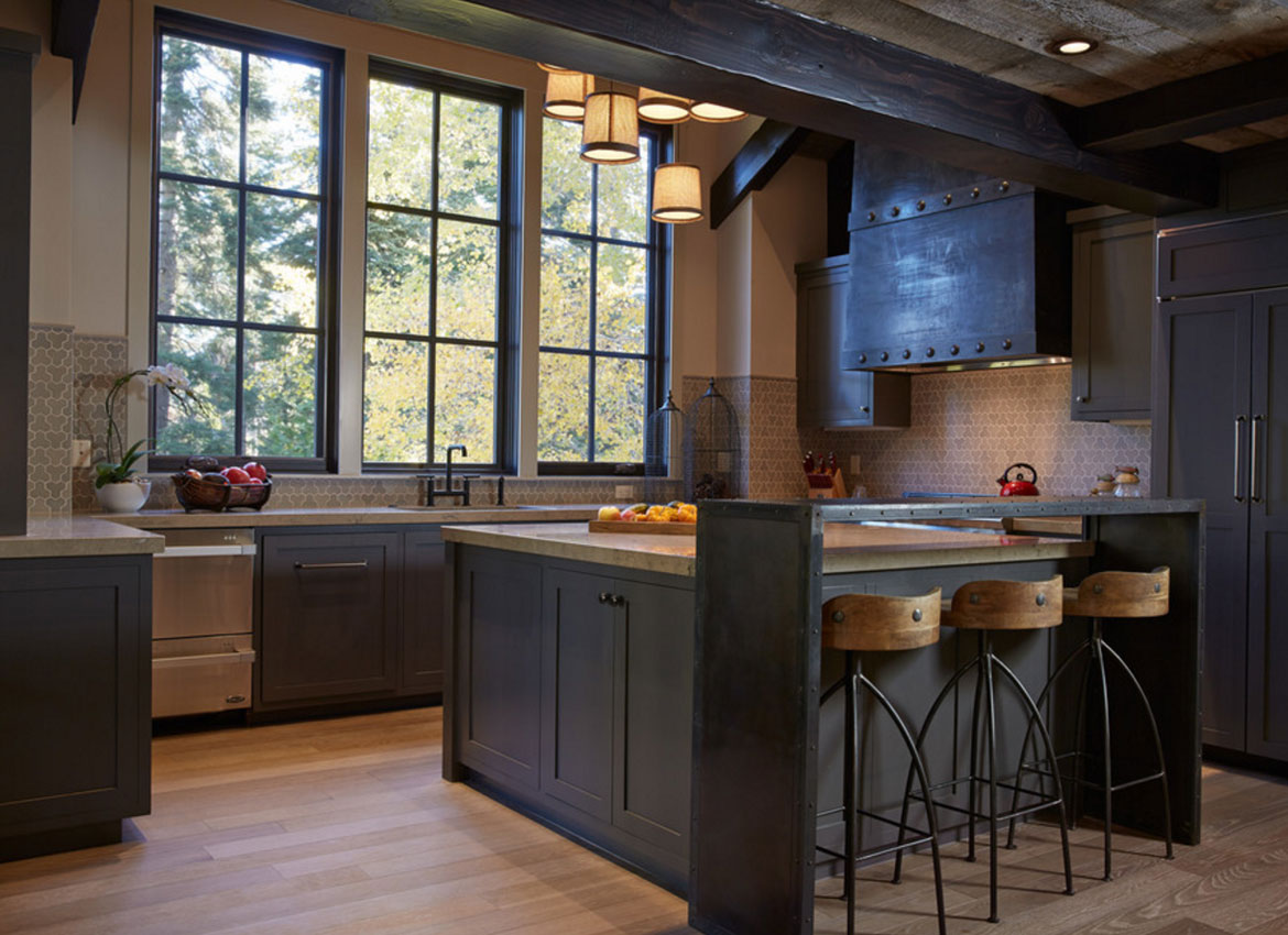 30 Classy Projects With Dark Kitchen Cabinets | Home