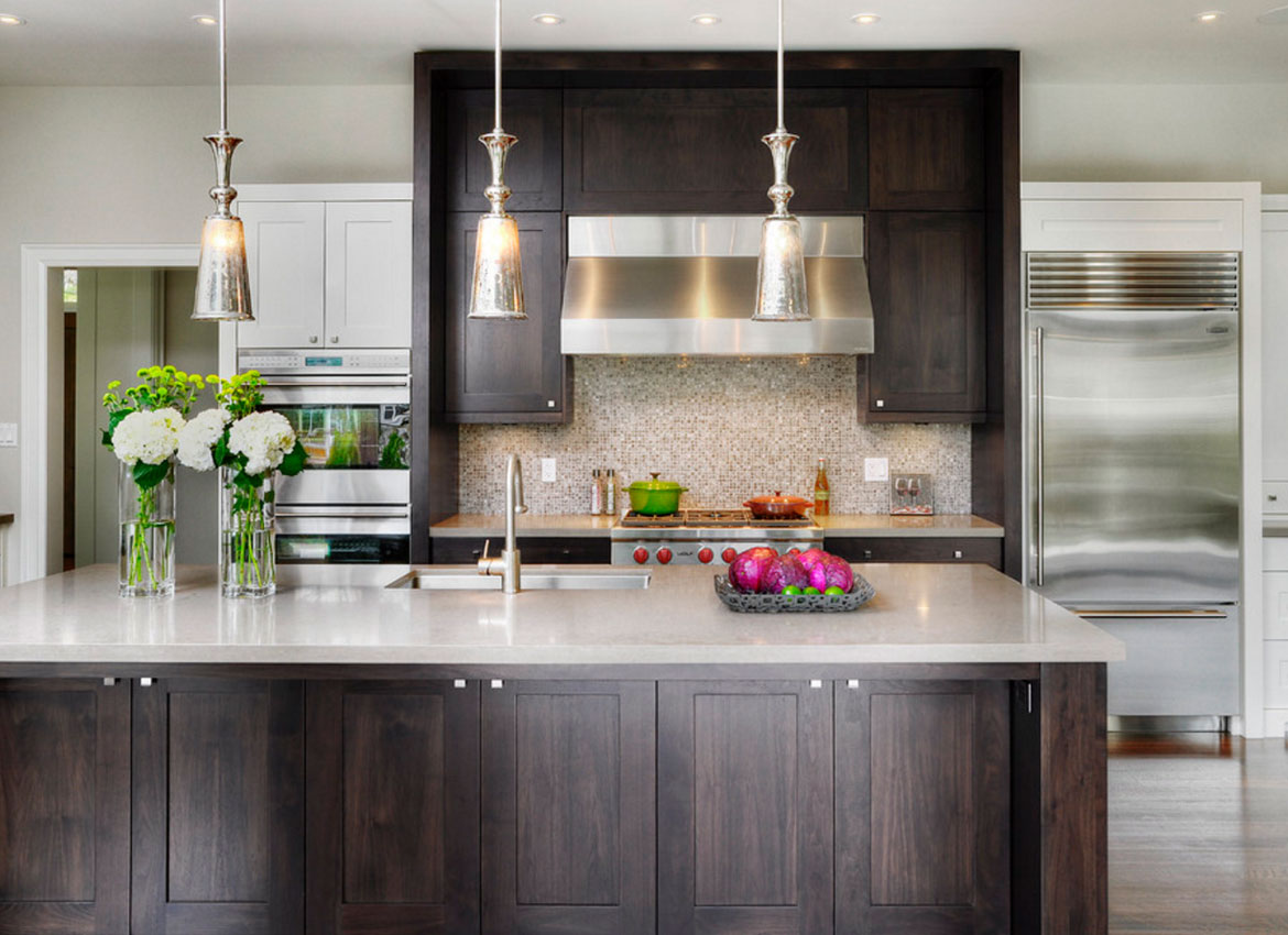 Dark Kitchen Cabinets   Sebring Services