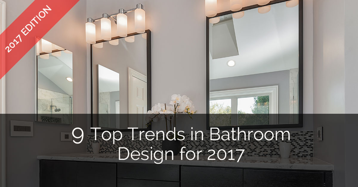 9 top trends in bathroom design for 2017 home remodeling for Tile trends 2017 bathroom