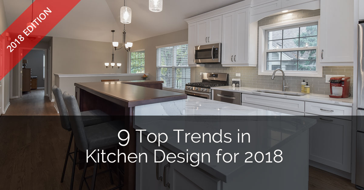 9 top trends in kitchen design for 2018 home remodeling for Kitchen cabinet trends 2018 combined with large glass wall art