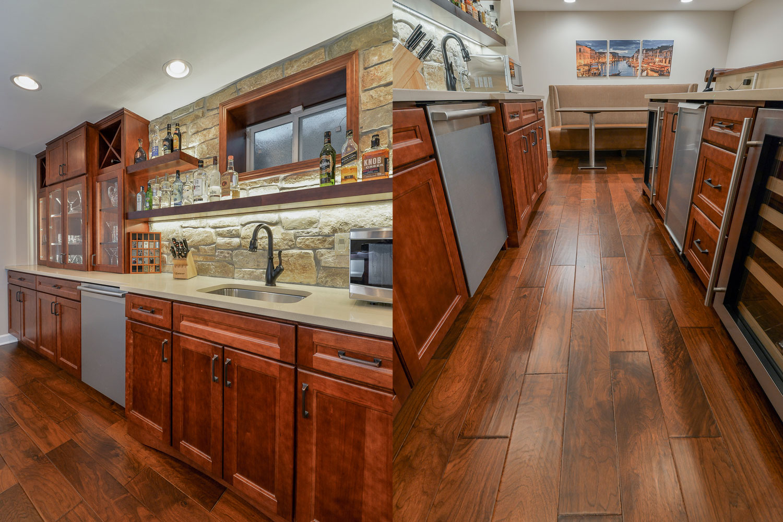 Chuck jen 39 s basement remodel pictures home remodeling contractors sebring design build Kitchen design and remodeling aurora