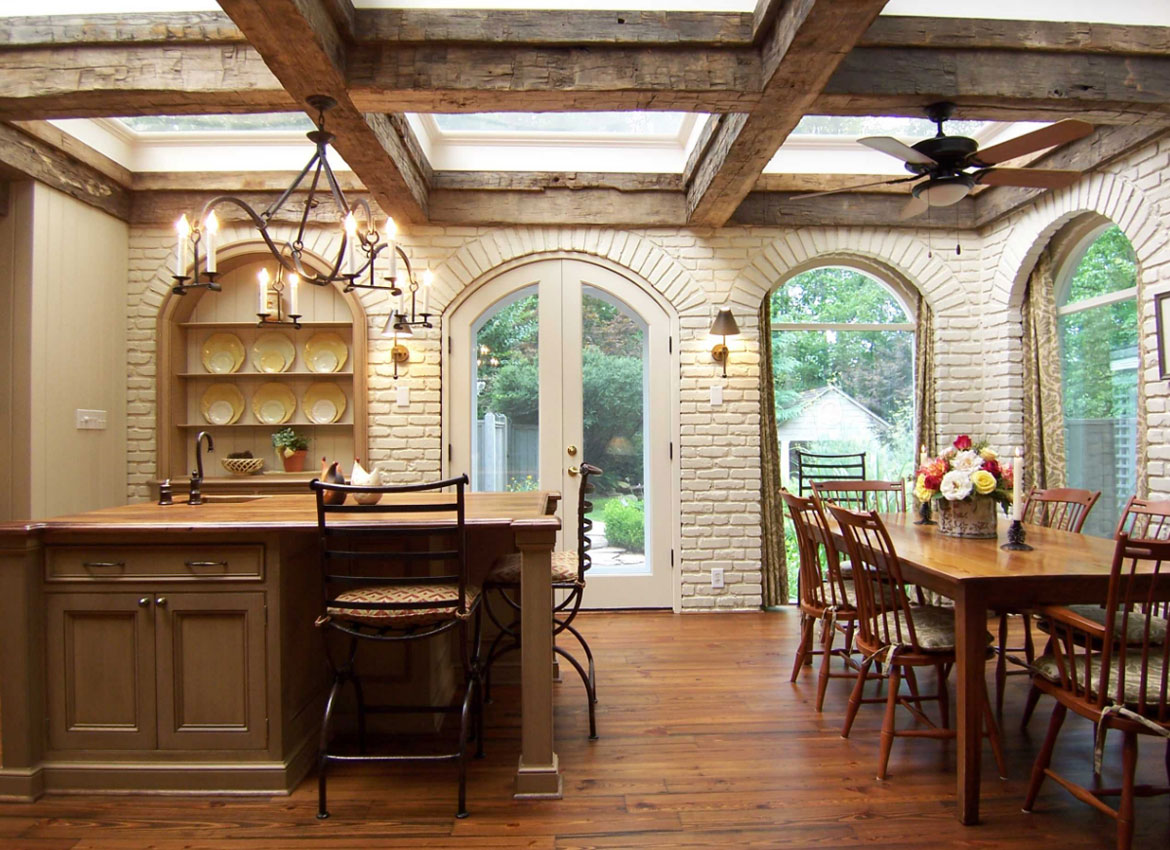 used to beams and kasey ceiling span s adding wood blog joe long kitchen workshop their faux large two a