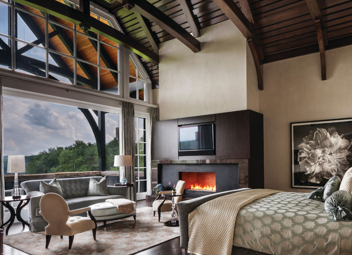 25 Exciting Design Ideas for Faux Wood Beams | Home Remodeling ... on house designs with turrets, house designs with hidden rooms, house designs with columns,