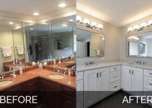 Hinsdale Master Bathroom Before & After - Sebring Services