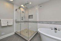Hinsdale Master Bathroom Remodeling Project - Sebring Services
