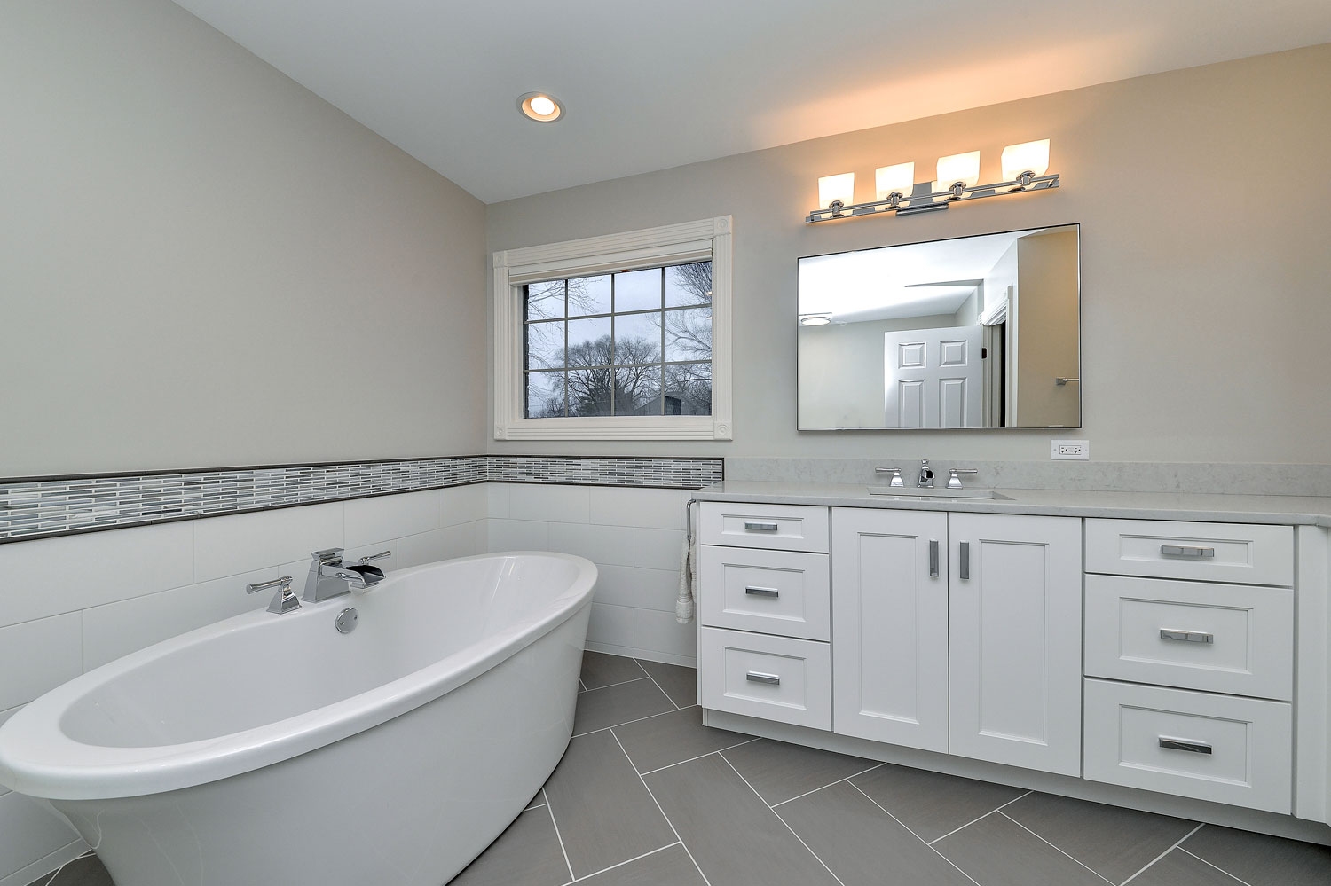 Hinsdale Master Bathroom Remodeling Project - Sebring Services