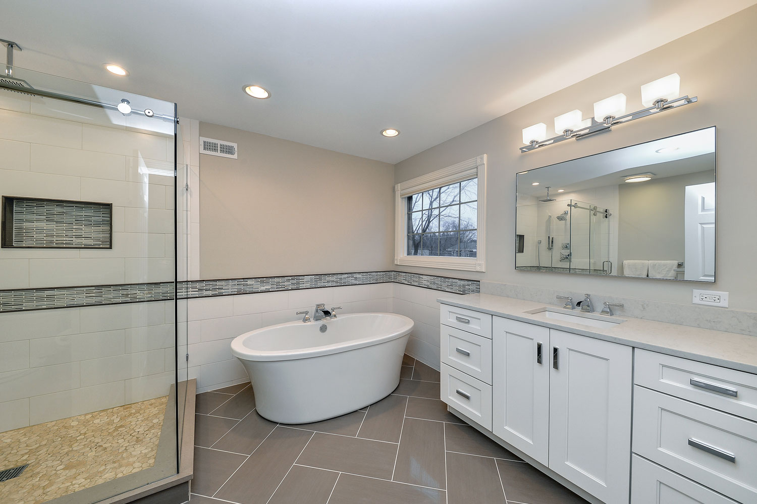 Greg julie 39 s master bathroom remodel pictures home for Bathroom remodel picture gallery